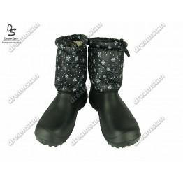 Дутики БЖ14 черные снежинка