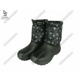 Дутики БЖ14 черные снежинка - фото 2