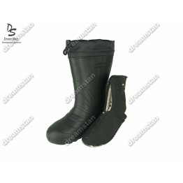 Мужские зимние резиновые сапоги EVA2 черные - фото 2