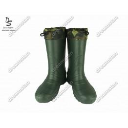 Мужские зимние резиновые сапоги EVA2 зеленые