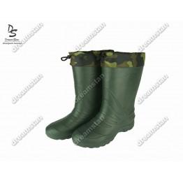 Мужские зимние резиновые сапоги EVA2 зеленые - фото 2