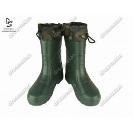 Мужские зимние резиновые сапоги EVA3 зеленые