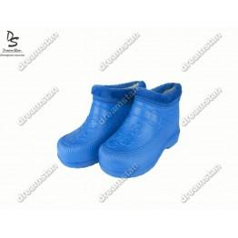 Женские галоши с мехом ГП06 голубые - фото 2