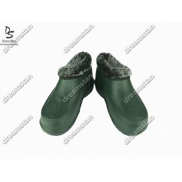 Мужские галоши с мехом ГП11 темно-зеленые