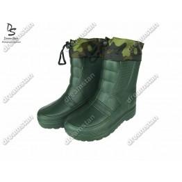 Мужские зимние галоши дримстан ГП05 зеленые - фото 2