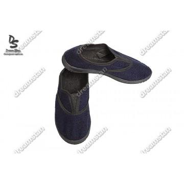 Домашние тапочки синие Мж02