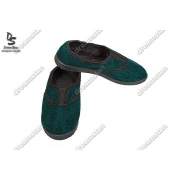 Домашние тапочки зеленые Мж02