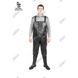 Рыбацкий полукомбинезон черный ПК01 - фото 2