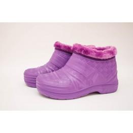 Женские галоши ГП21 мех фиолет - фото 2
