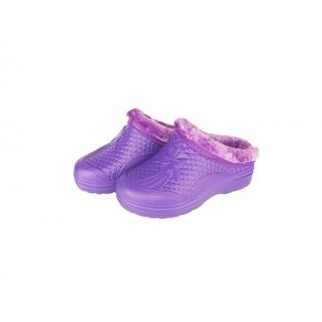 Женские галоши с мехом ГП17 без задника фиолетовый