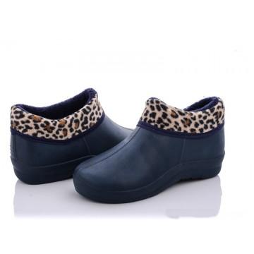 Женские ботинки ГП-30 мех короткий леопард