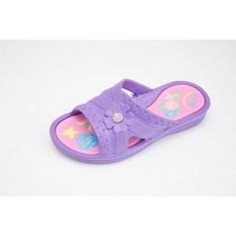 Подростковые шлепанцы ППЖ-04 фиолет-малиновые
