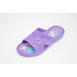 Подростковые шлепанцы ППЖ-04 фиолет-фиолетовые