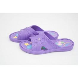 Подростковые шлепанцы ППЖ-04 фиолет-фиолетовые - фото 2