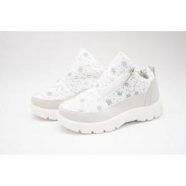 Женские ботинки 310 белые снежинка