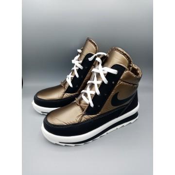 Женские ботинки G-117 темное золото