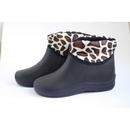 Женские ботинки ГП-30 мех леопард - фото 2