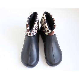 Женские ботинки ГП-30 мех короткий леопард - фото 2