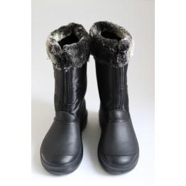 Женские дутики М-45 черный крок