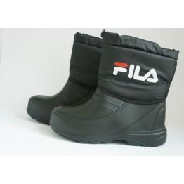 Мужские ботинки шнурок фила черные
