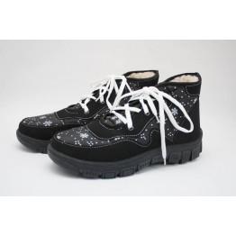 Женские ботинки 112 черн снеж ПЧ