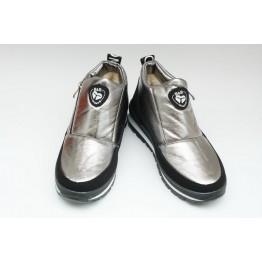 Женские ботинки Едита 5 серебро - фото 2