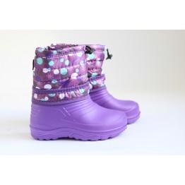 Дутики детские фиолет горошек цвет