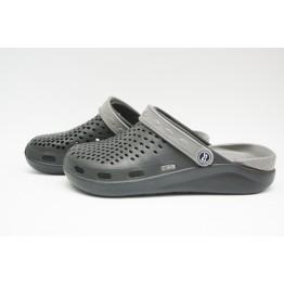 Подростковые Сабо crocs-03 черн-серый - фото 2