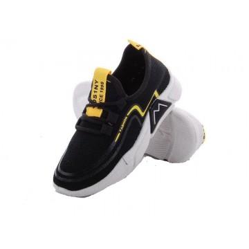 Детские кроссовки 202-2 черно-желтый