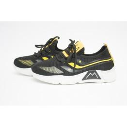 Детские кроссовки 203-2 черн-желтый