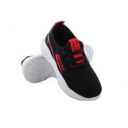 Детские кроссовки 207-2 черно-красный - фото 2