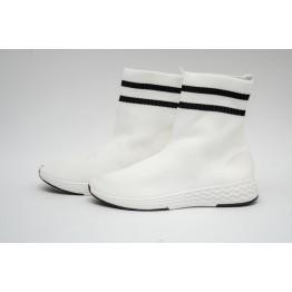 Женские кроссовки 0569 белые - фото 2