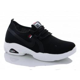 Женские кроссовки 513-1 черные - фото 2