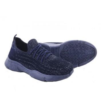 Женские кроссовки А-30 т.синий