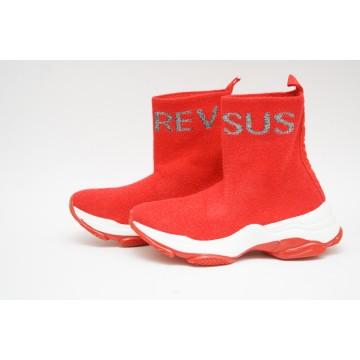 Женские кроссовки А-33-2 красные