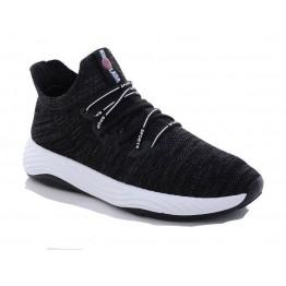 Мужские кроссовки 1087 черн-серый - фото 2