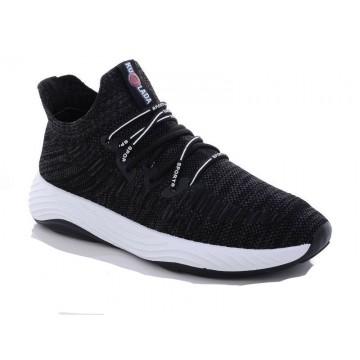 Мужские кроссовки 1087 черн-серый