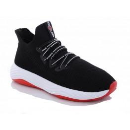 Мужские кроссовки 1087 черн-красный - фото 2