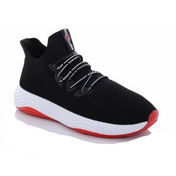 Мужские кроссовки 1087 черн-красный