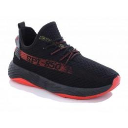 Мужские кроссовки 1106 черн-красный - фото 2