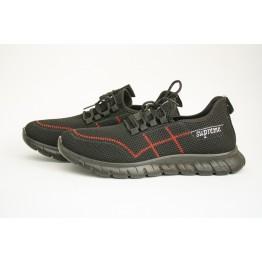 Мужские кроссовки 1982-1 черн-красный - фото 2