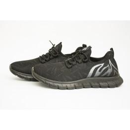 Мужские кроссовки 89107-1 черн-белый