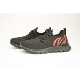 Мужские кроссовки 89107-2 черн-красный