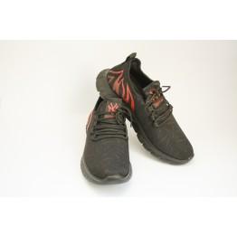 Мужские кроссовки 89107-2 черн-красный - фото 2