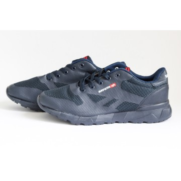 Мужские кроссовки S-8252-7 т.син-серый
