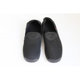 Мужские мокасины Сетка А-045 черный - фото 2