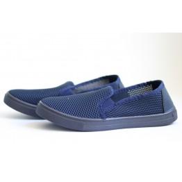 Мужские мокасины С-3 т.синий крок