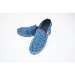 Мужские мокасины G-042 синий - фото 2