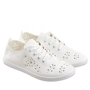 Женские мокасины SD-531 белый