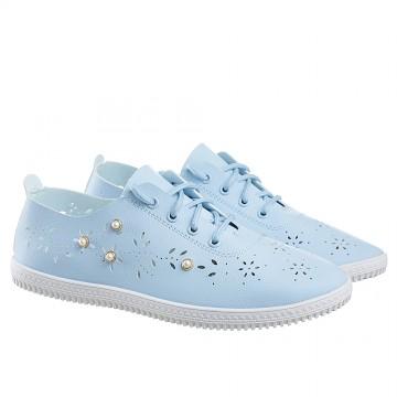 Женские мокасины SD-533 голубой